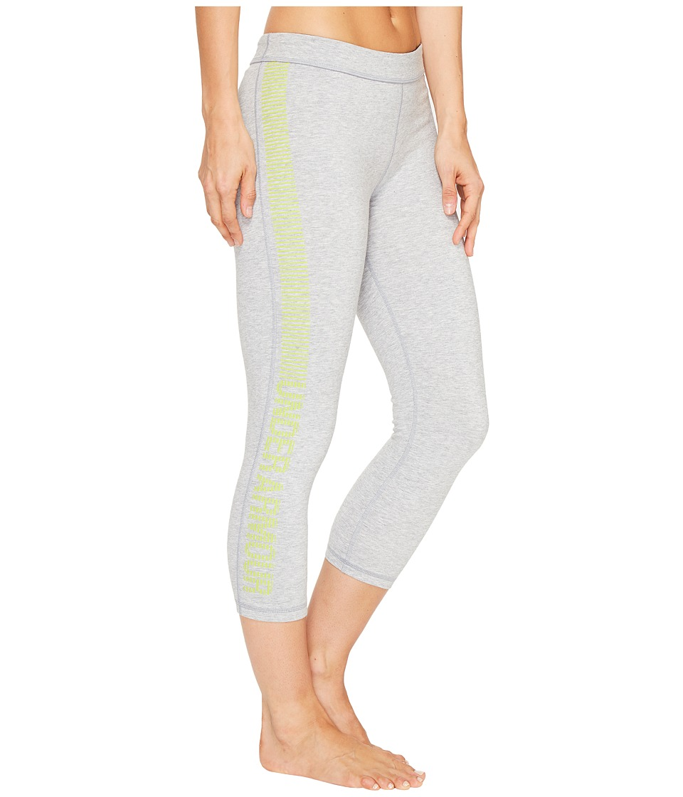 Under Armour Favorite Capris Graphic (True Gray Heather/Smash Yellow) Women
