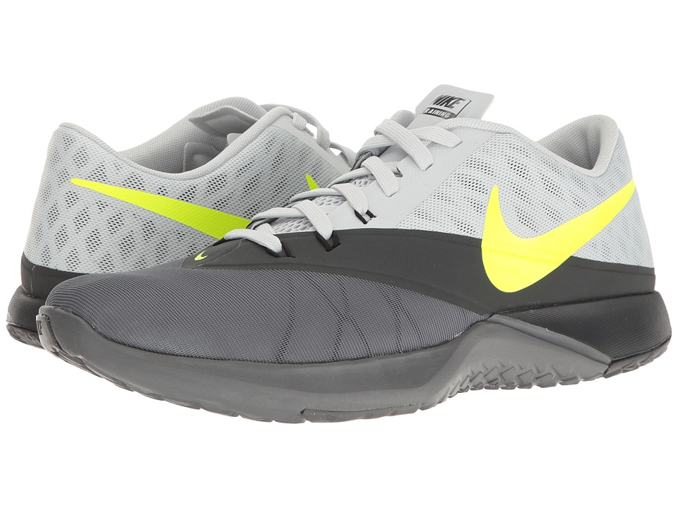 Nike - FS Lite Trainer 4 (Dark Grey/Volt/Pure Platinum/Anthracite) Men's Shoes