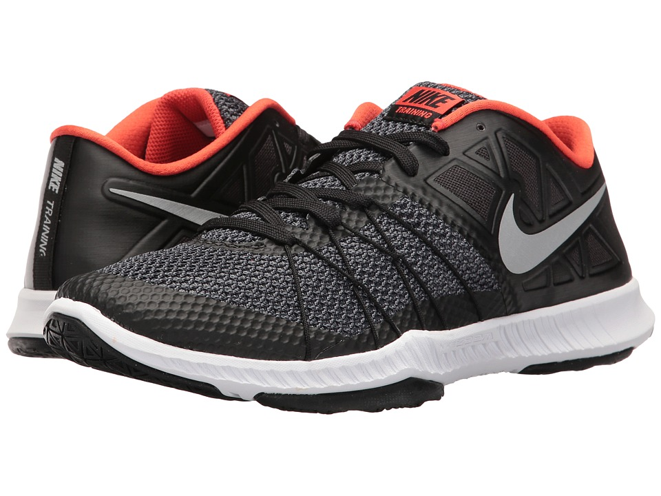 Nike - Zoom Train Incredibly Fast (Black/Reflect Silver/Max Orange) Men's Shoes