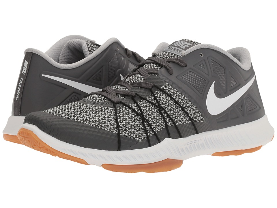 Nike - Zoom Train Incredibly Fast (Dark Grey/White/Wolf Grey/Hyper Orange) Men's Shoes