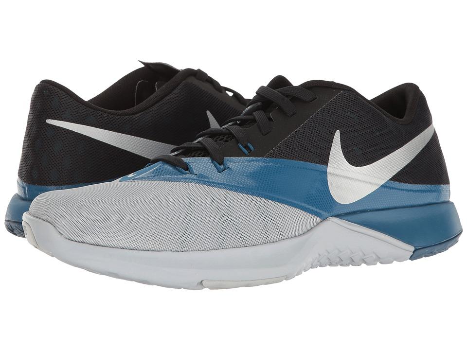 Nike - FS Lite Trainer 4 (Wolf Grey/Metallic Silver/Black) Men's Shoes