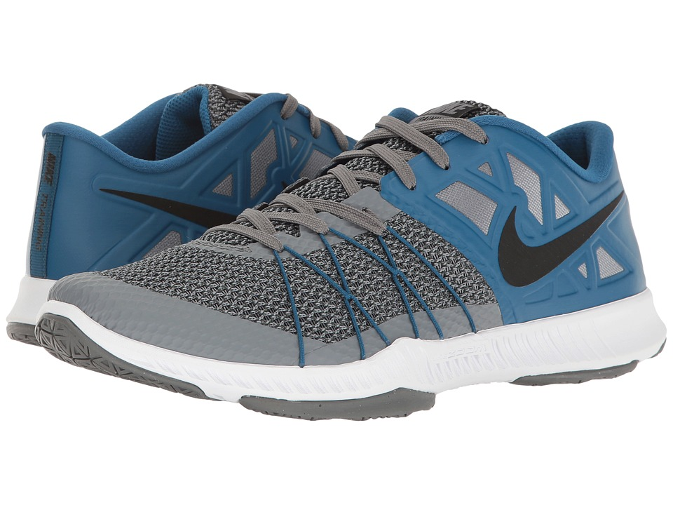 Nike - Zoom Train Incredibly Fast (Cool Grey/Black/Industrial Blue) Men's Shoes