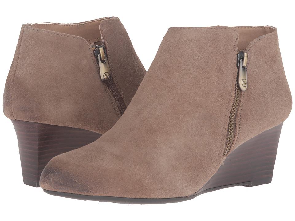 Adrienne Vittadini - Meriel (Beige Oil Split Suede) Women's Zip Boots