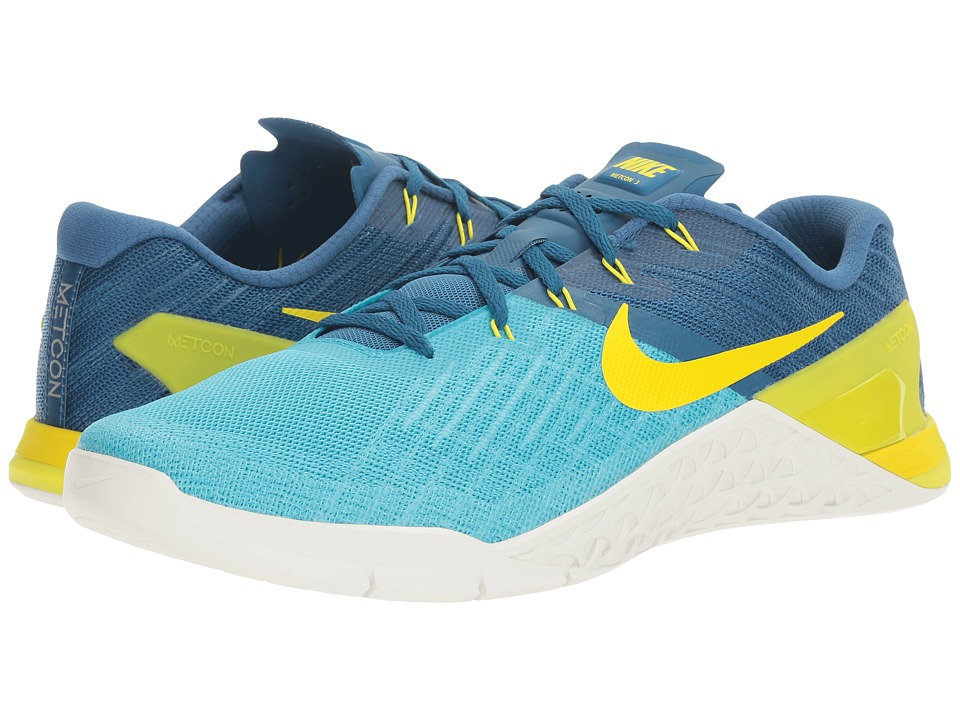 Nike - Metcon 3 (Chlorine Blue/Electrolime/Industrial Blue/Blue) Men's Cross Training Shoes