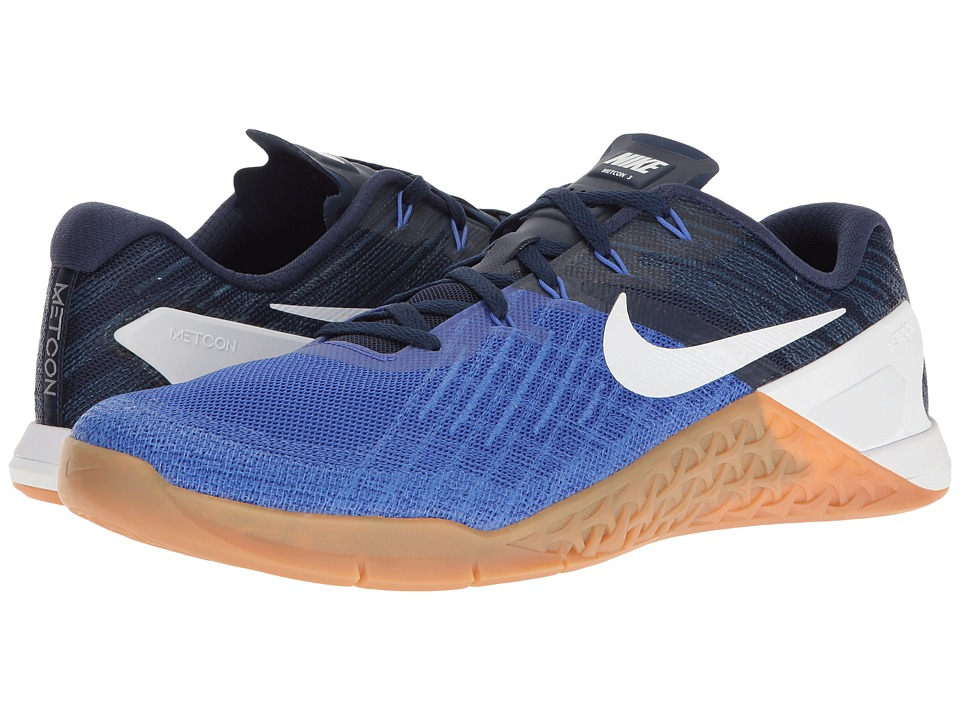 Nike - Metcon 3 (Paramount Blue/White/Binary Blue/Gum Medium Brown) Men's Cross Training Shoes