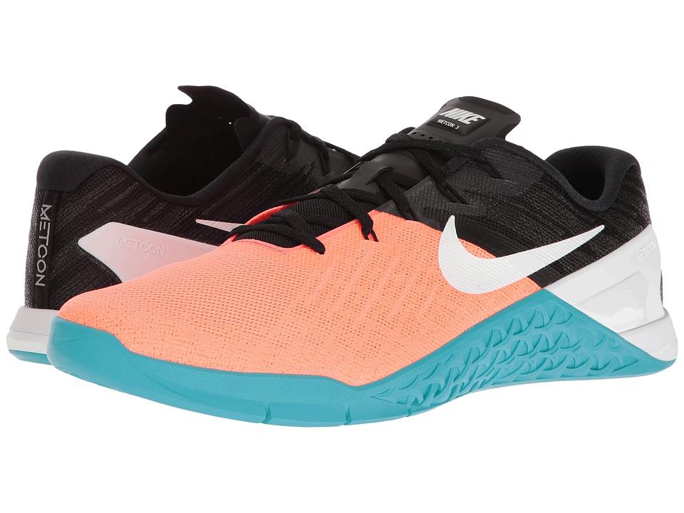 Nike - Metcon 3 (Hyper Orange/White/Black/Chlorine Blue) Men's Cross Training Shoes