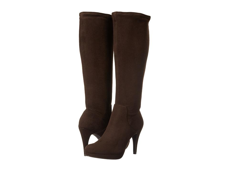 Adrienne Vittadini - Premiere (Dark Brown Microsuede Stretch) Women's Dress Zip Boots