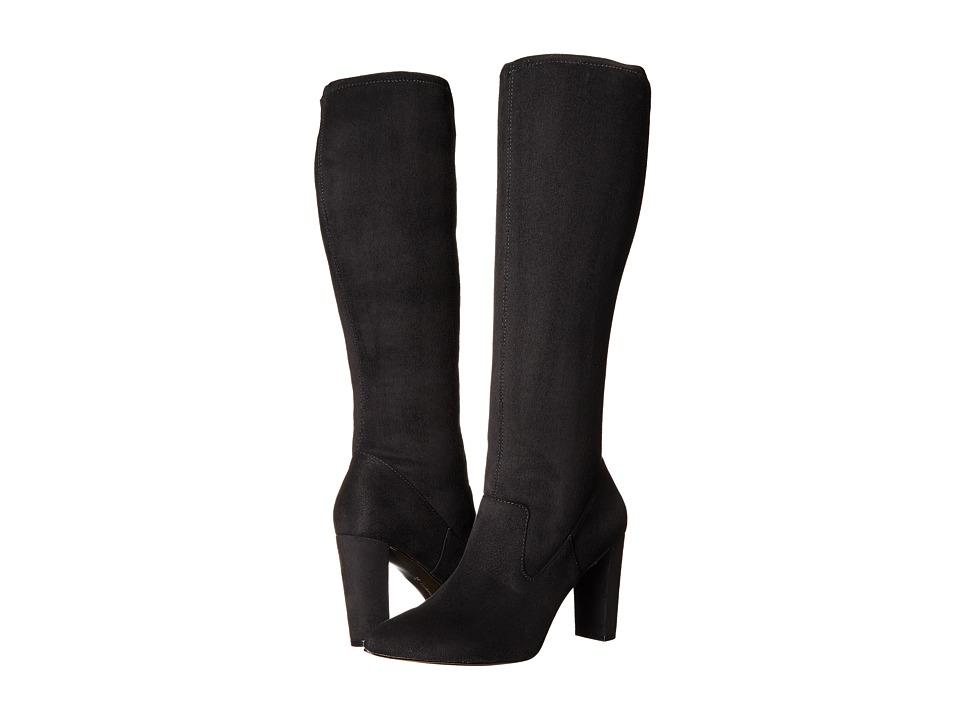 Adrienne Vittadini - Nanni (Black Microsuede Stretch) Women's Boots