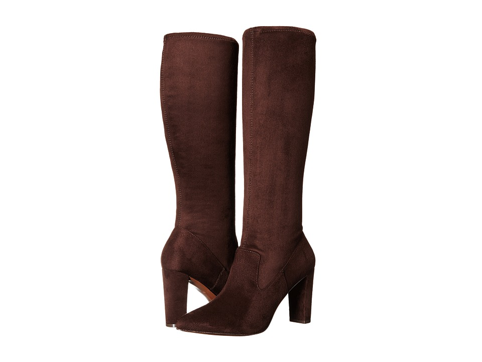 Adrienne Vittadini - Nanni (Dark Brown Microsuede Stretch) Women's Boots