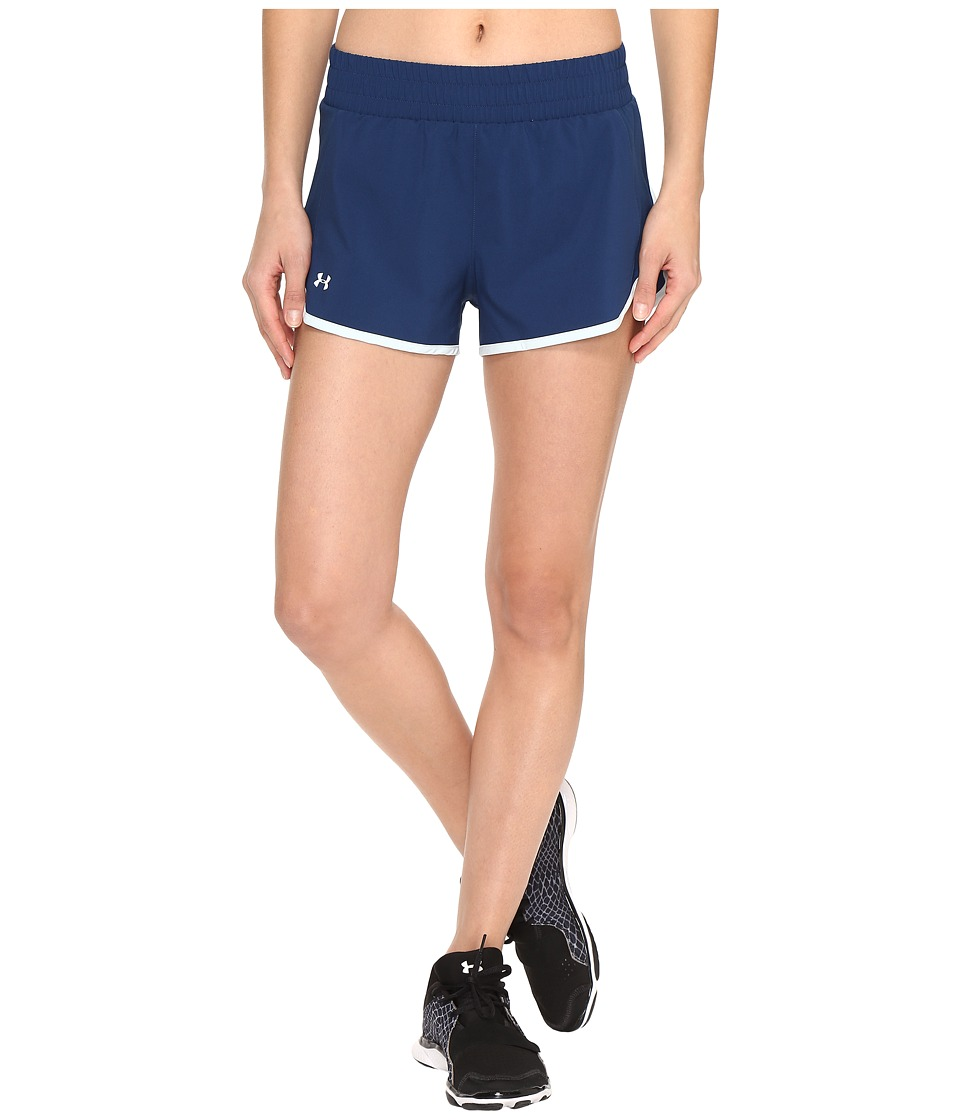 Under Armour - Launch Tulip Shorts (Blackout Navy/Skylight) Women's Shorts