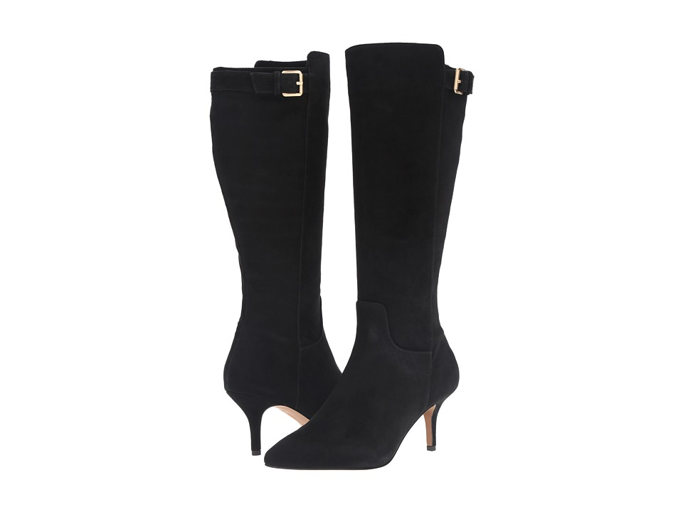 Adrienne Vittadini - Swanny (Black Kidsuede) Women's Boots