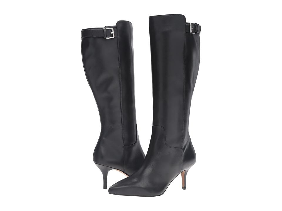 Adrienne Vittadini - Swanny (Black Glazed Soft Kid Skin) Women's Boots