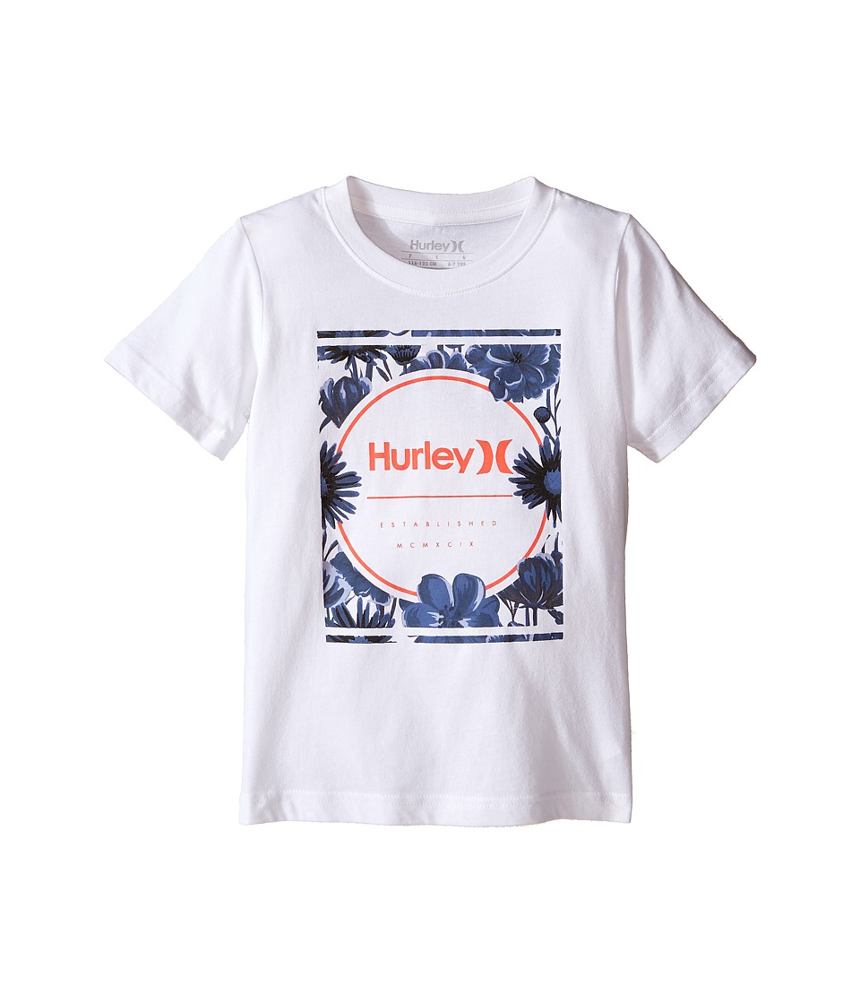 Hurley Kids - Planted Tee (Little Kids) (White) Boy's T Shirt