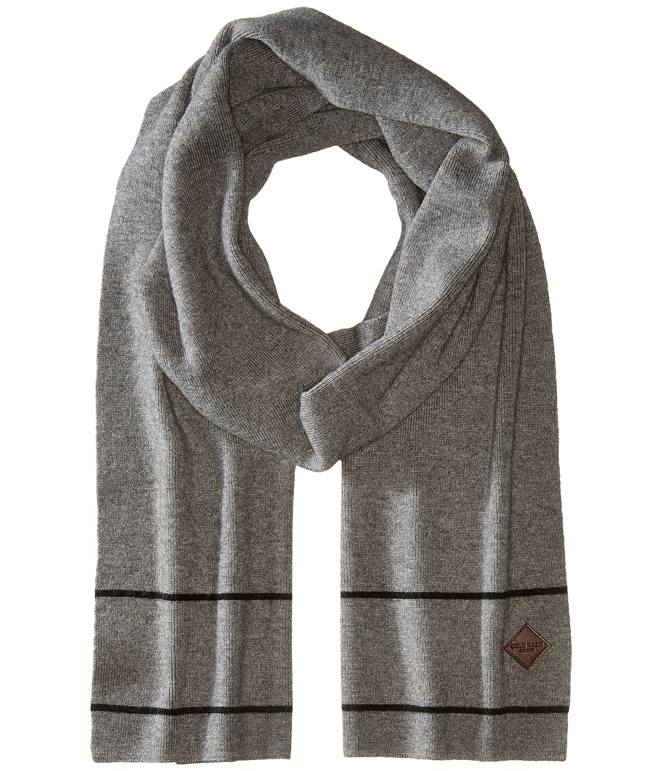 Cole Haan - Stripe Border Muffler (Heather Grey/Black) Scarves