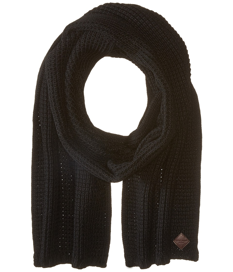 Cole Haan - Thermal Stitch Muffler (Black) Scarves