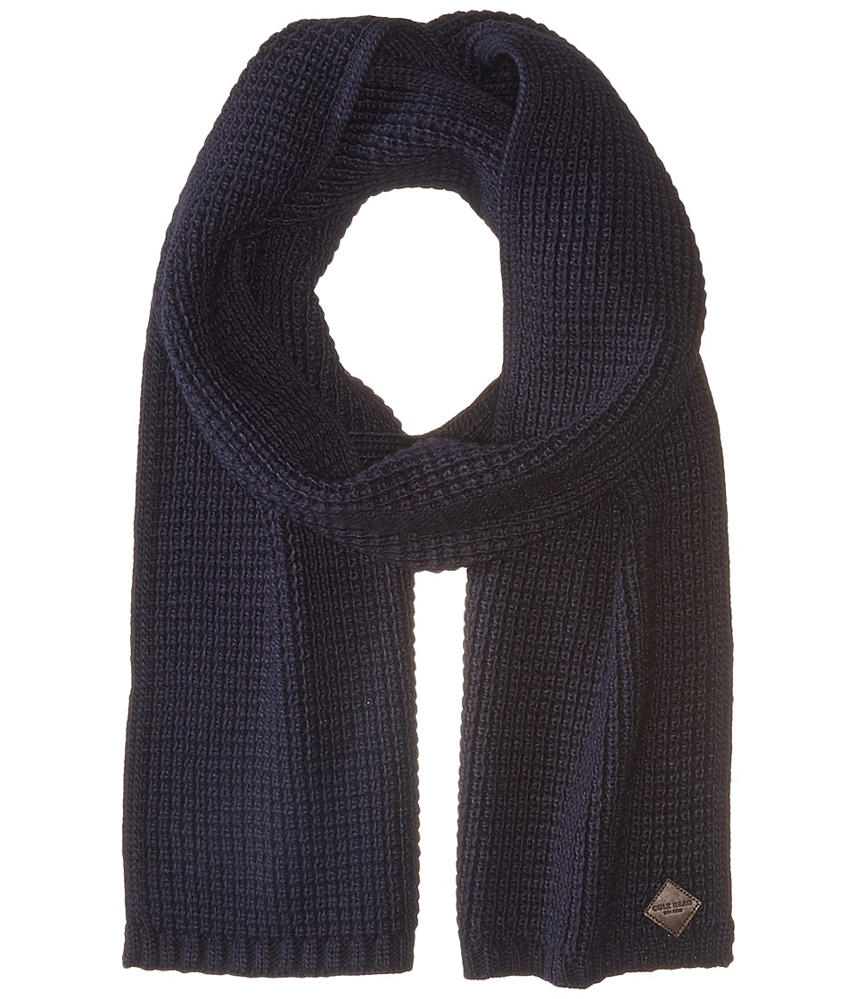 Cole Haan - Thermal Stitch Muffler (Blue) Scarves