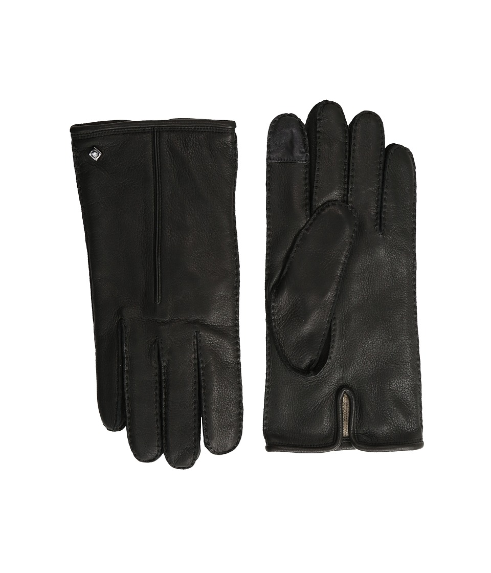 Cole Haan - Handsewn Deerskin Leather Gloves with Single Point and Tech (Black) Extreme Cold Weather Gloves