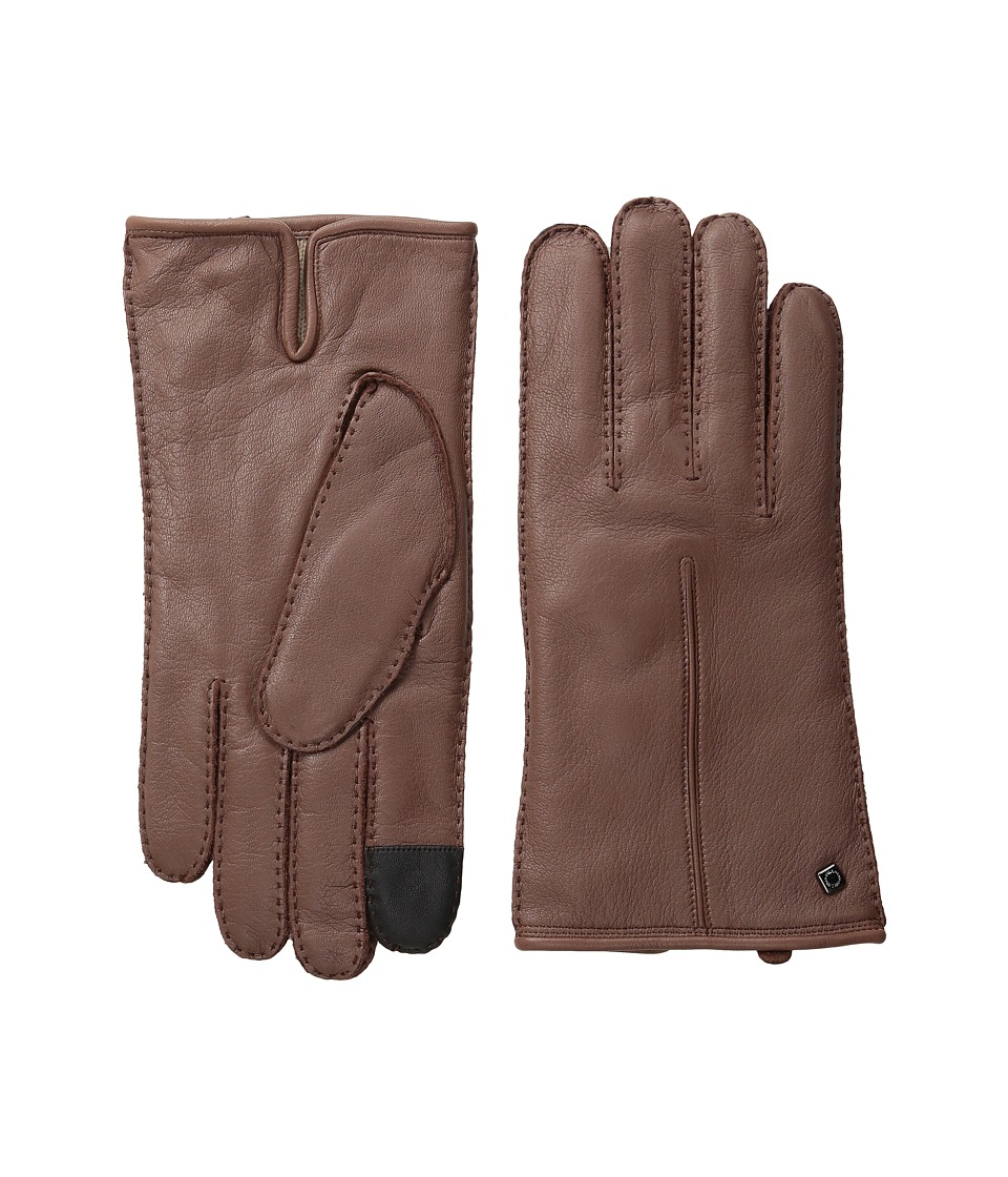 Cole Haan - Handsewn Deerskin Leather Gloves with Single Point and Tech (Woodbury) Extreme Cold Weather Gloves
