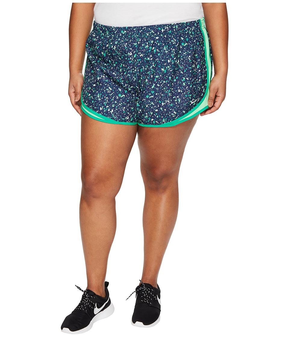 Nike - Dry Tempo Print 3 Running Short (Size 1X-3X) (Stadium Green/Electro Green/Wolf Grey) Women's Shorts