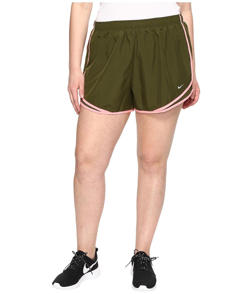 Nike - Dry Tempo 3 Running Short (Size 1X-3X) (Legion Green/Legion Green/Wolf Grey) Women's Shorts