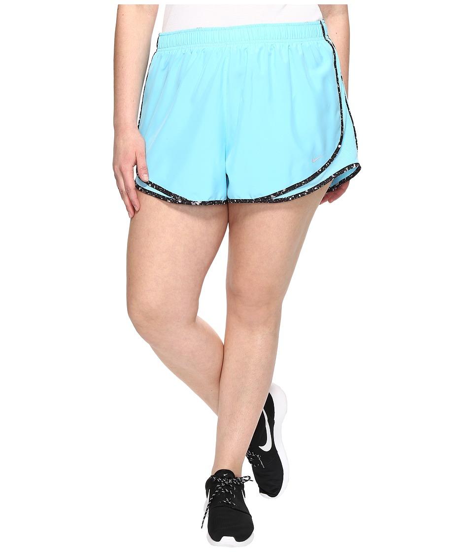 Nike - Dry Tempo 3 Running Short (Size 1X-3X) (Vivid Sky/Black/Wolf Grey/Wolf Grey) Women's Shorts