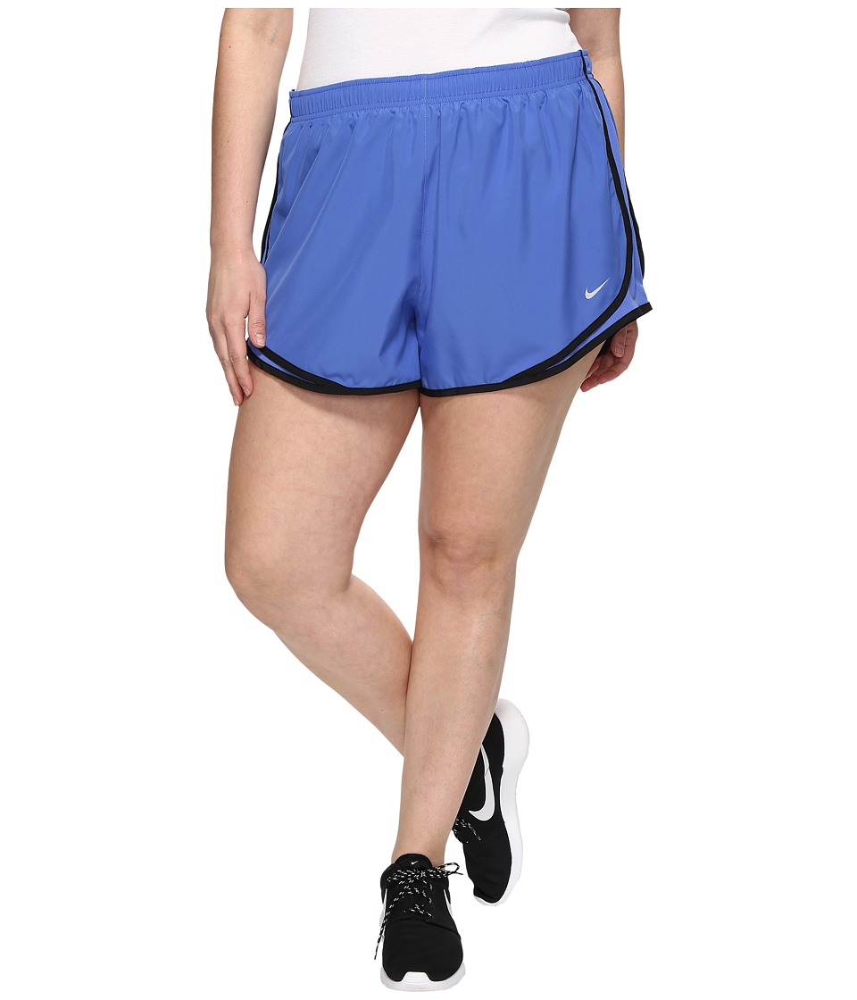 Nike - Dry Tempo 3 Running Short (Size 1X-3X) (Comet Blue/Comet Blue/Black/Wolf Grey) Women's Shorts