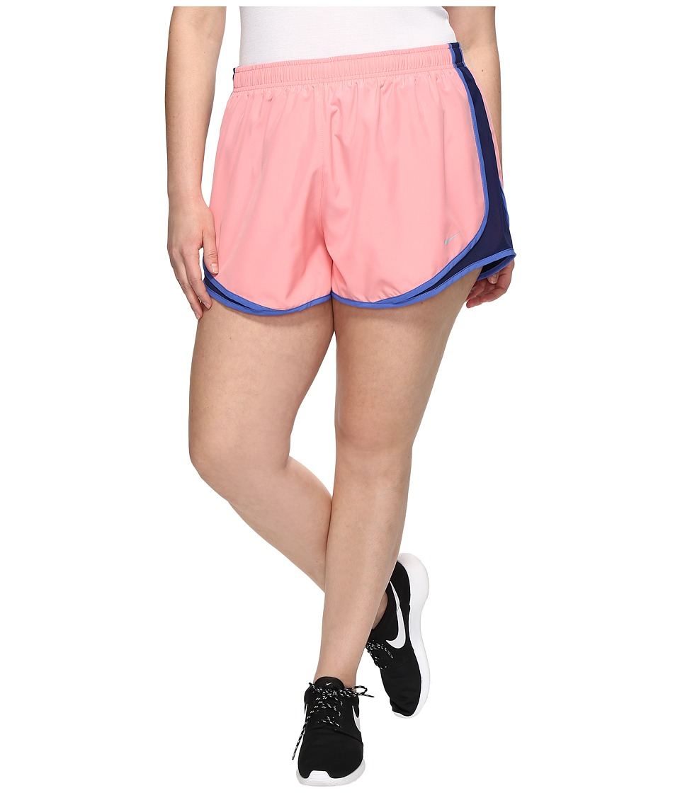 Nike - Dry Tempo 3 Running Short (Size 1X-3X) (Bright Melon/Binary Blue/Wolf Grey) Women's Shorts
