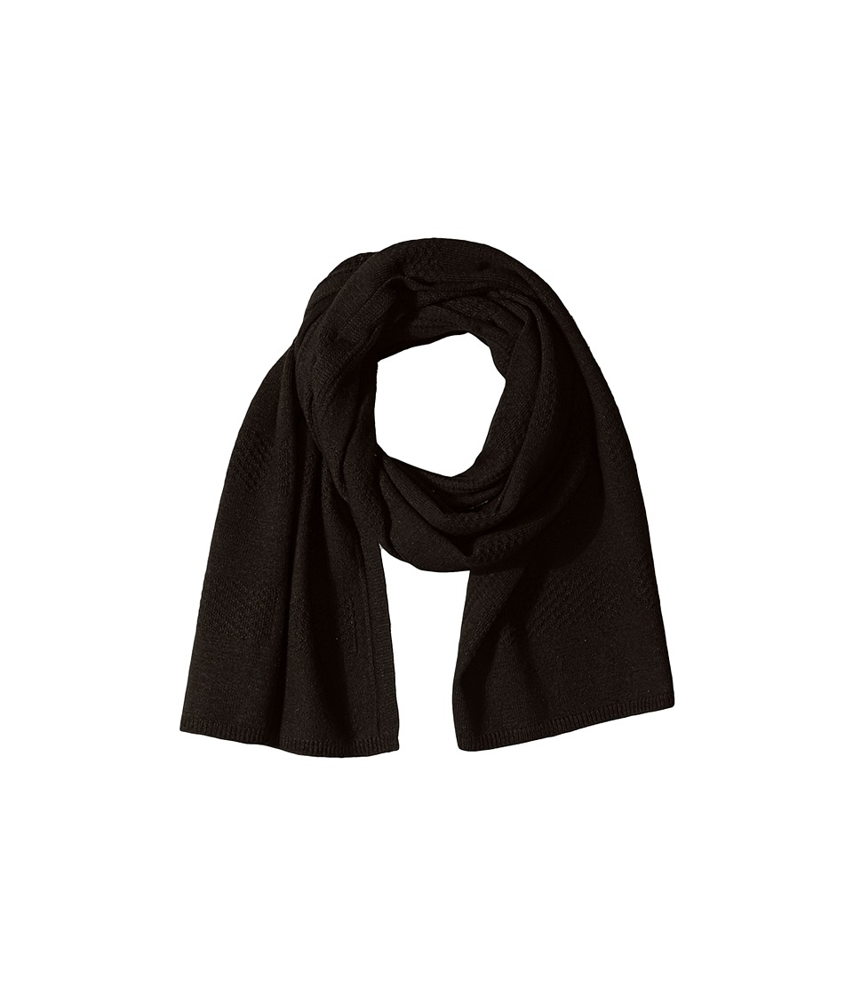 Cole Haan - Tuck Stitch Muffler (Black) Scarves