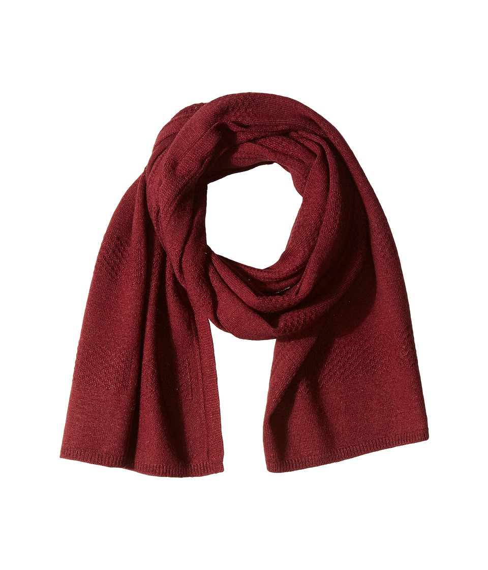 Cole Haan - Tuck Stitch Muffler (Zinfandel) Scarves