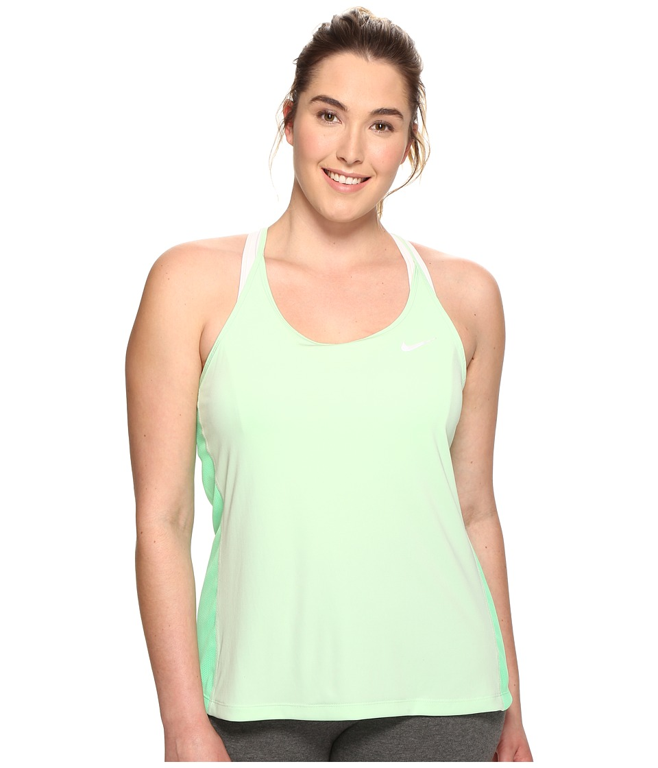 Nike - Dry Miler Running Tank (Size 1X-3X) (Fresh Mint/Electro Green/Reflective Silver) Women's Sleeveless