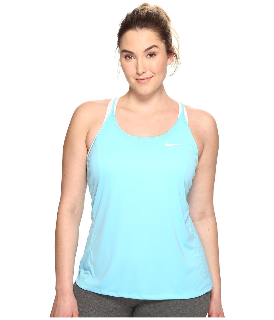 Nike - Dry Miler Running Tank (Size 1X-3X) (Vivid Sky/Vivid Sky) Women's Sleeveless