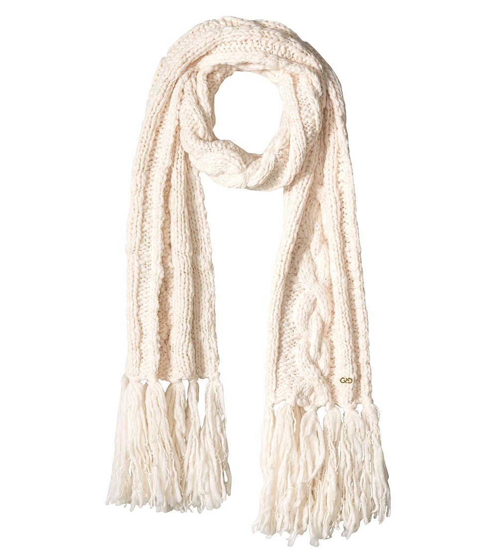 Cole Haan - Chunky Cable Muffler with Fringe (Ivory) Scarves