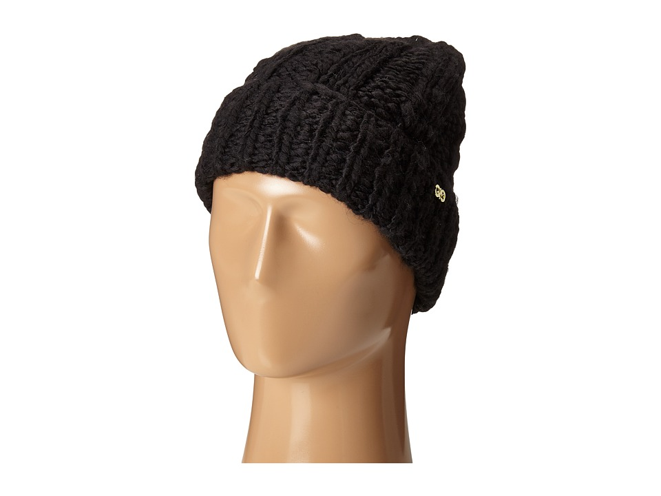Cole Haan - Chunky Cable Cuff Hat (Black) Caps
