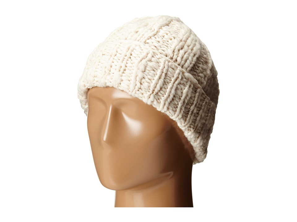 Cole Haan - Chunky Cable Cuff Hat (Ivory) Caps
