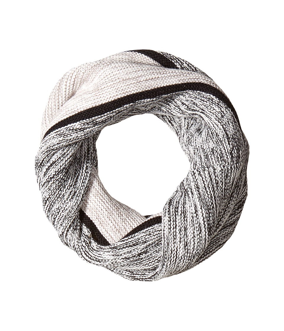 Cole Haan - Marl Stripe Neckwarmer (Black/Ivory/Grey) Scarves