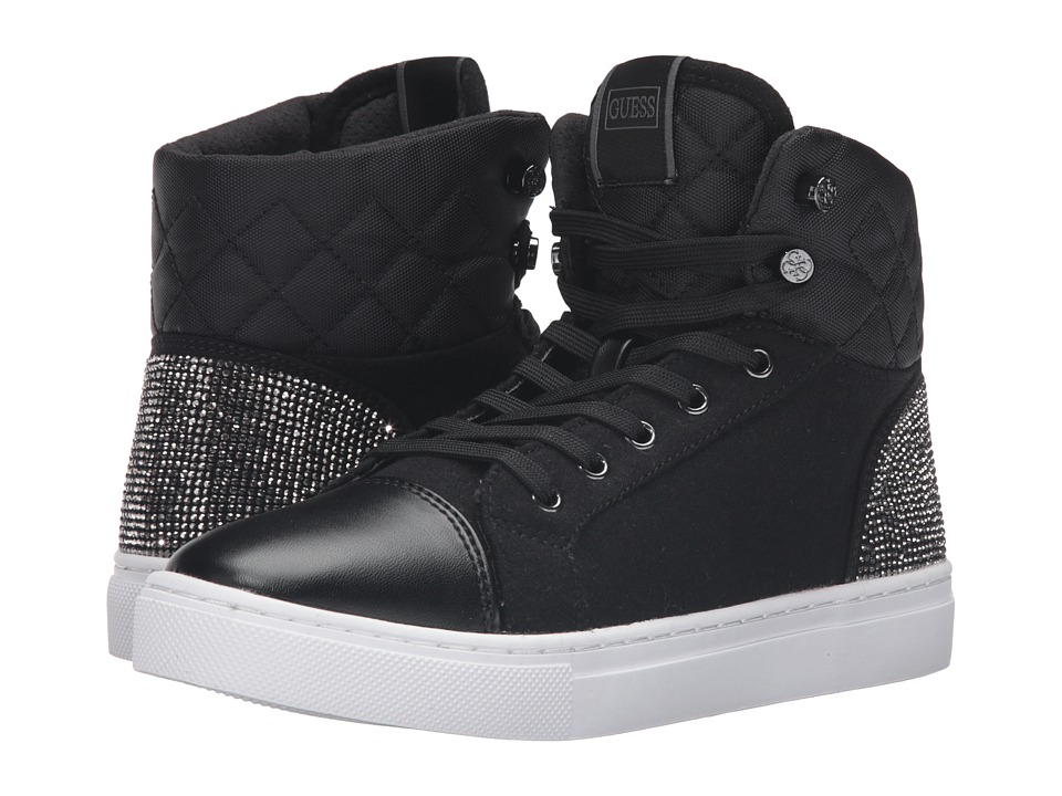 GUESS - Janis (Black) Women's Lace up casual Shoes