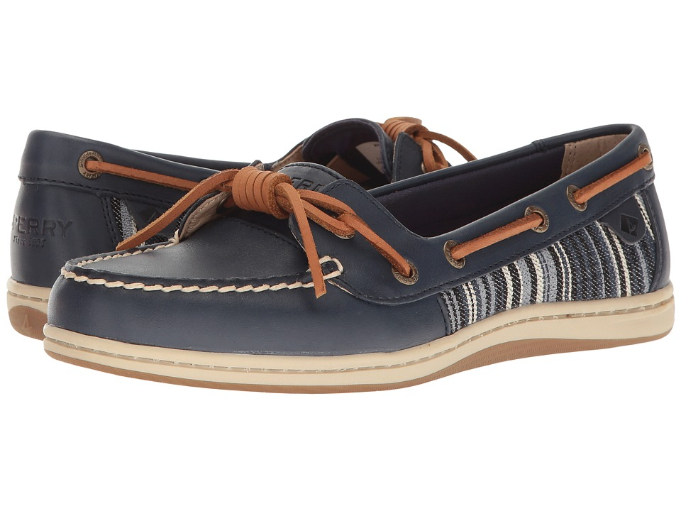 Sperry - Barrelfish Stripes (Navy) Women's Moccasin Shoes