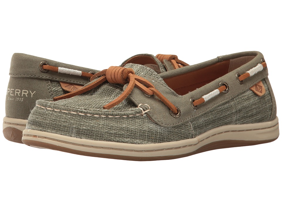 Sperry - Barrelfish Heavy Linen (Olive) Women's Lace up casual Shoes