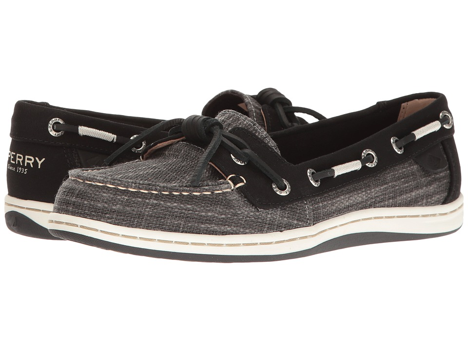 Sperry - Barrelfish Heavy Linen (Black) Women's Lace up casual Shoes