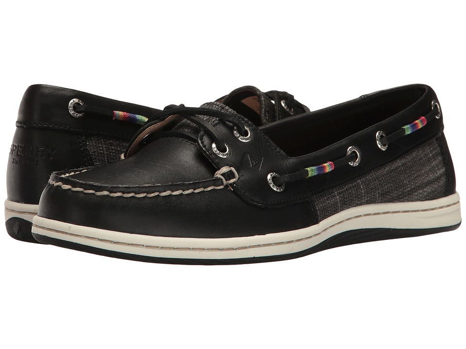 Sperry - Firefish Leather Rainbow (Black) Women's Lace up casual Shoes