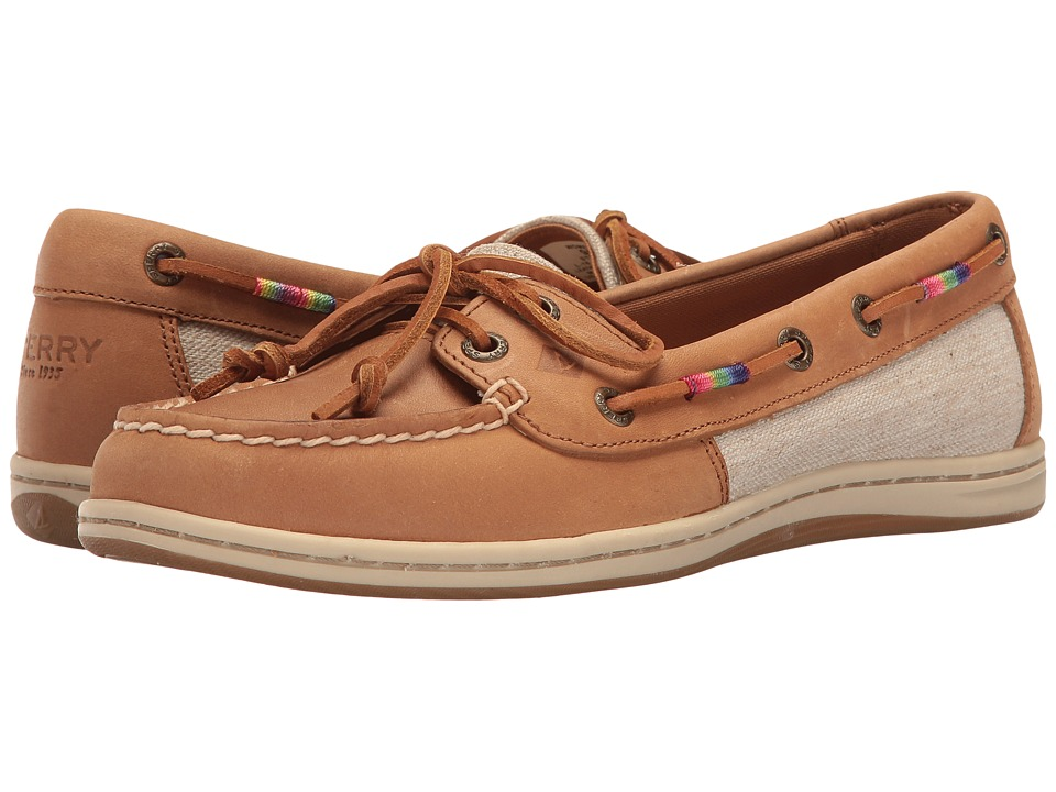 Sperry Firefish Leather Rainbow (Tan) Women