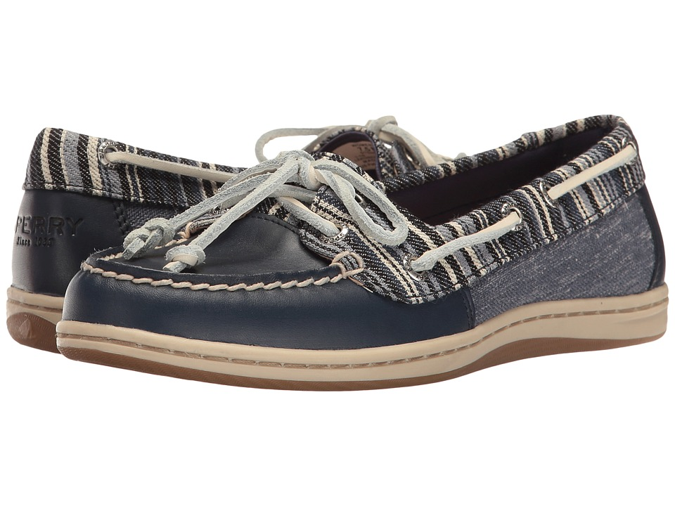 Sperry - Firefish Denim Stripe (Navy) Women's Lace up casual Shoes