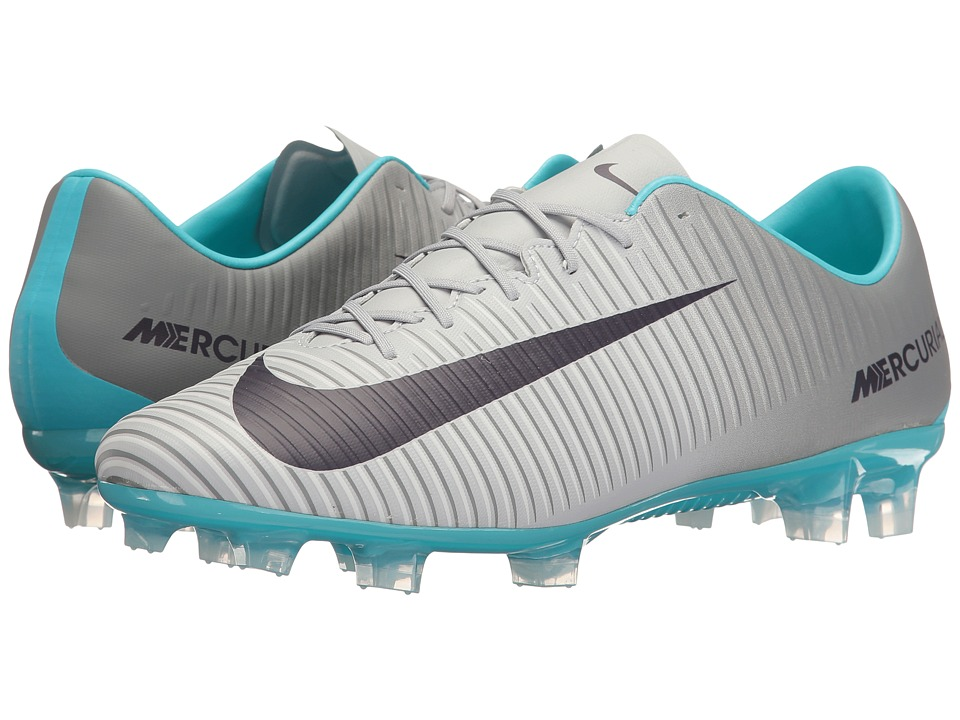 Nike - Mercurial Veloce III Dynamic Fit FG (Wolf Grey/Purple Dynasty/Cool Grey) Women's Soccer Shoes