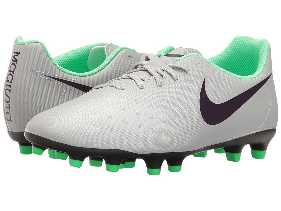 Nike - Magista OLA II FG (Wolf Grey/Purple Dynasty/Electric Green) Women's Soccer Shoes