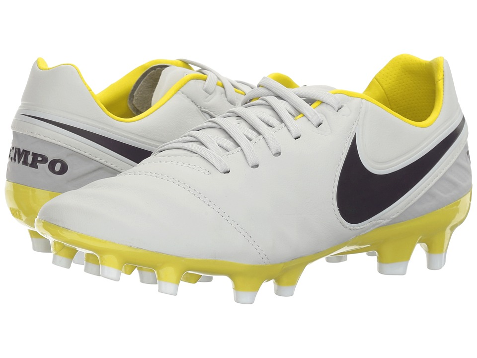 Nike - Tiempo Legacy 2 FG (Pure Platinum/Purple Dynasty/Electric Lime/White) Women's Soccer Shoes