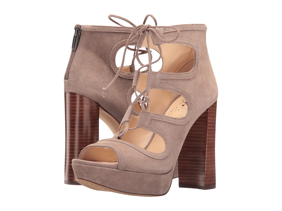 Vince Camuto Kamaye (Stone Taupe True Suede) High Heels