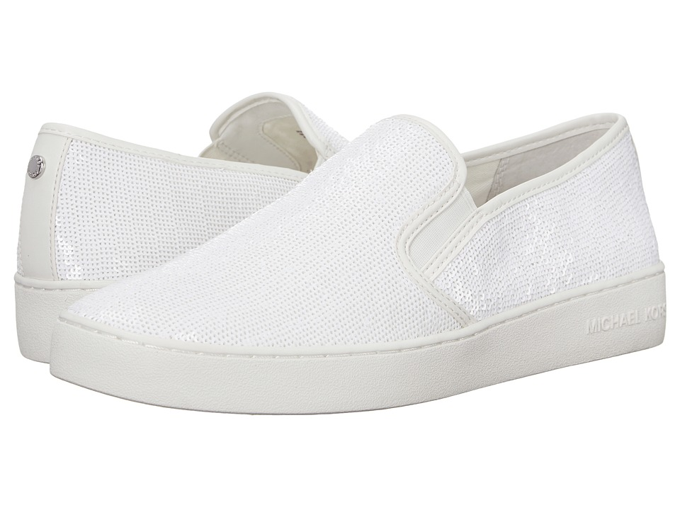 MICHAEL Michael Kors - Keaton Slip-On (Optic White) Women's Shoes