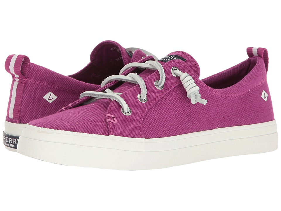 Sperry - Crest Vibe Washed Linen (Wild Rose) Women's Lace up casual Shoes