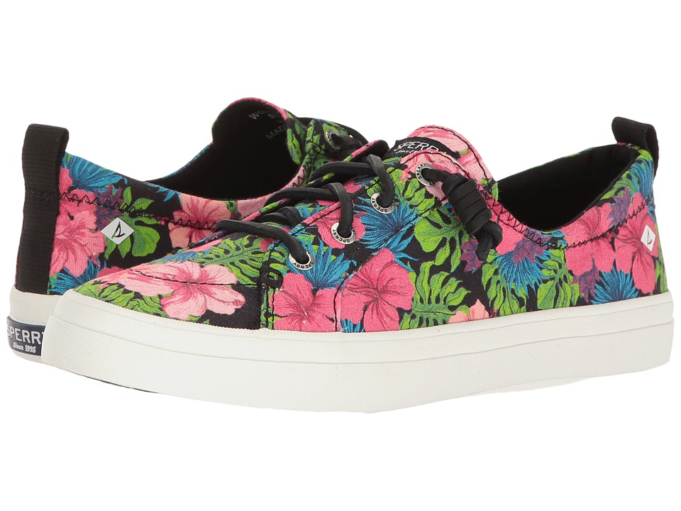 Sperry - Crest Vibe Tropical Floral (Black Multi) Women's Lace up casual Shoes