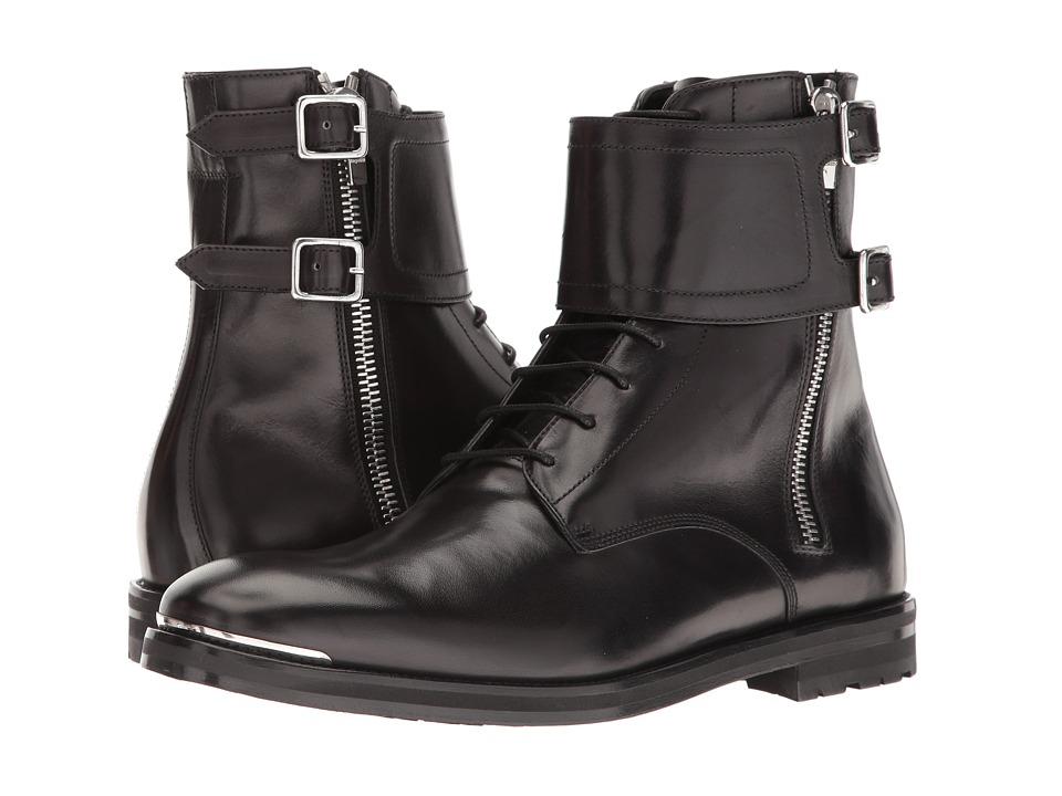 Alexander McQueen - Buckle Ankle Boot (Black) Men's Boots